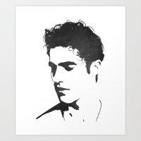 darren criss Art Prints featuring Darren Criss Portrait by laurenschroer