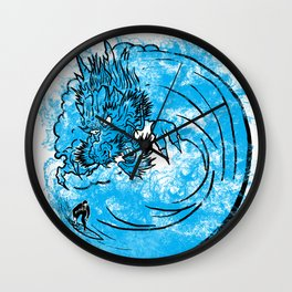 Dragon Waves Wall Clock