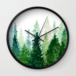 Pine Trees 2 Wall Clock