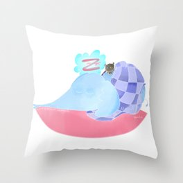 l'éléphant qui dort Throw Pillow