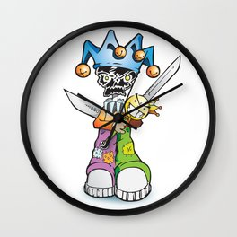 skull clown Wall Clock
