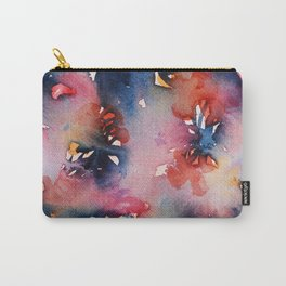 Pink Flowers Perfume Carry-All Pouch