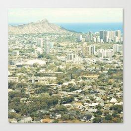 Waikiki Cityscape Canvas Print