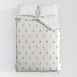 Blue Moth Duvet Cover