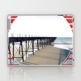 Vitorian Pier - red graphic Laptop & iPad Skin