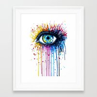 "samsung Framed Art Prints featuring ""Rainbow Eye"" by PeeGeeArts"
