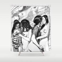 asc 912 - La galerie des contemporaines (At the movie) Shower Curtain