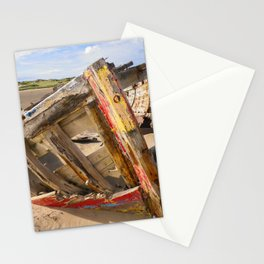 BOAT WRECK AT CROW POINT BEACH NORTH DEVON Stationery Cards