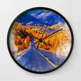 Colorado Highway Wall Clock
