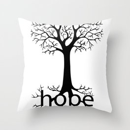 Hope Takes Roots Throw Pillow