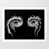 tool Art Prints featuring Tool eyes by SnowVampire