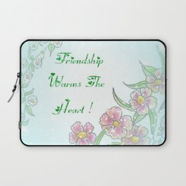 Friendship Warms The Heart Laptop Sleeve
