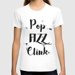 Black & White Pop Fizz Clink T-shirt