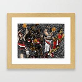 Blazers Framed Art Print