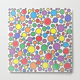 Colored Bubbles  Metal Print