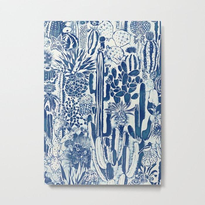 Indigo cacti II Metal Print