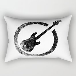 Bass Guitar Ink Stamp Rectangular Pillow