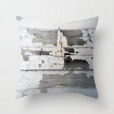 Hinge on Vintage Door Throw Pillow
