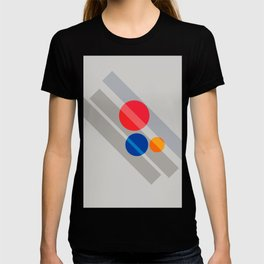 Abstract Suprematism Equilibrium Art Red Blue Yellow T-shirt