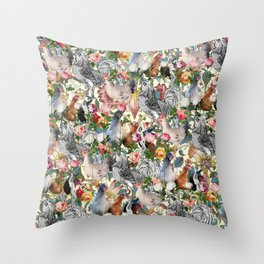 Julia's Chickens Throw Pillow