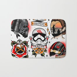 Force Awakens Tattoo Flash sheet Bath Mat