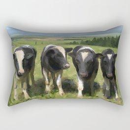 Curious Kiwi Cows Rectangular Pillow