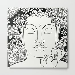 Mandala Buddha Metal Print