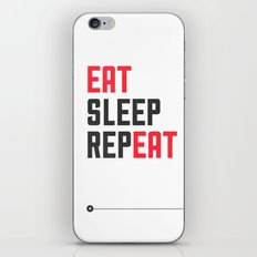 EAT SLEEP REPEAT iPhone & iPod Skin