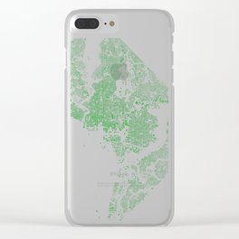 Washington DC Green Building Map Clear iPhone Case