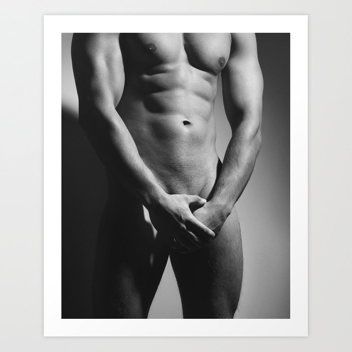 Sexy Naked Man With Amazing Body Art Print By Dreampictures