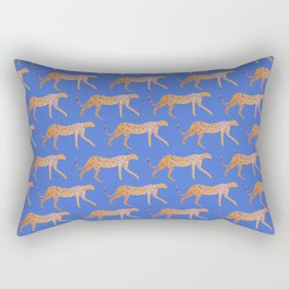Leopard - Orange Rectangular Pillow