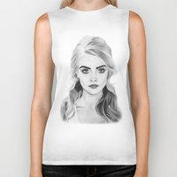 cara delevingne Biker Tanks featuring Cara Delevingne by sunshinegirldraws