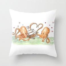 Octopus Valentine  Throw Pillow
