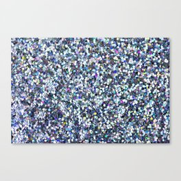 Blue Glitter Canvas Print