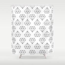 DIAMOND - LINES #1 Shower Curtain