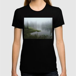 Foggy Tree Reflection Lake T-shirt