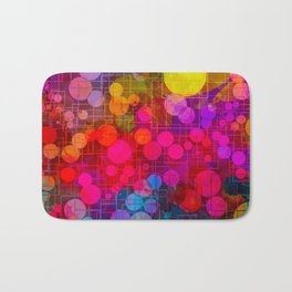 Rainbow Bubbles Abstract Design Bath Mat