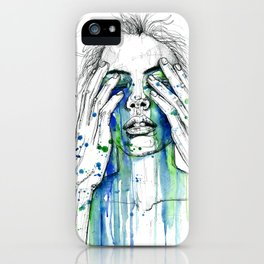 Don't fight my tears 'cause they feel so good. iPhone Case
