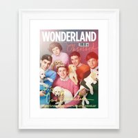 1d Framed Art Prints featuring 1d by emma jane