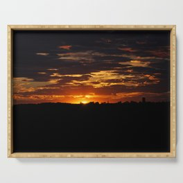 Vivid Sunset Changing Colors Serving Tray