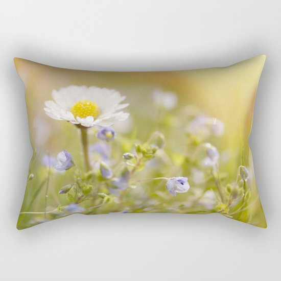 Daisy and court- Daisies Flowers Flower Meadow Spring #Society6 Rectangular Pillow