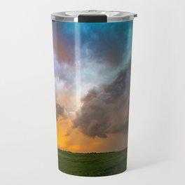 Glorious - Stormy Sky and Kansas Sunset Travel Mug