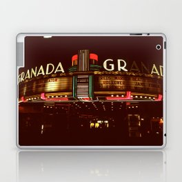 Night Lights Granada Theater, Ithaca NY Laptop & iPad Skin