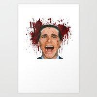 american psycho Art Prints featuring American Psycho by mMel
