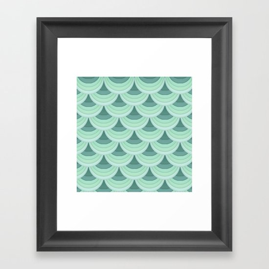 Ocean Fan Tail. Framed Art Print