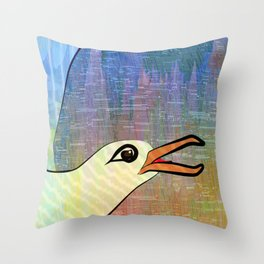 On the Cliffs with Jonathan Livingston Seagull Throw Pillow