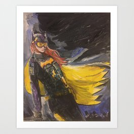 GCPD BATGIRL Art Print