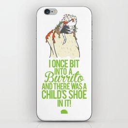 Burrito Shoe iPhone Skin