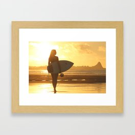 Bech at Sunset Framed Art Print