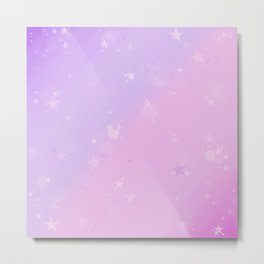 Purple Stars in a Candy Sky Metal Print